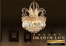 Free Shipping Hot D450mm Luxury North European Top K9 Crystal Chandelier Light Hotel Hall Living Room Dining Room AC 110-240V