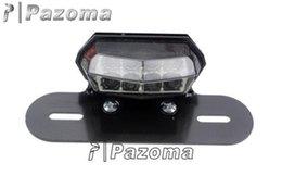 Wholesale PAZOMA ATV QUAD DIRT MOTORCYCLE BLACK LICENSE PLATE HOLDER MOUNT LED BRAKE TAIL LIGHT