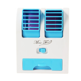 Wholesale 2016 Hot Sale Mini USB Fragrance Refrigeration Fan Portable Bladeless Desktop fan Cooling Air Conditioner with Retail Packaging EGS_709