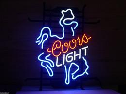 Promotion signes de cow-boy Rare Nouveau Coors Light Cowboy Rider Réel Bière Bar Neon Light Sign FAST SHIP GITT