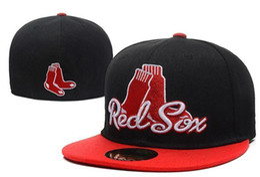 Wholesale 2017 Новый стиль прибытия классический Бостон Ред Сокс бейсболки пять панель бренда хип хоп кепка типа хабар установлены шлемы SNAPBACK размер крышки
