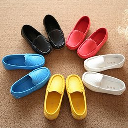 Hot Sale New Children Shoes Spring Kids Sneakers Candy Color Cute Boys And Girls Flats With Soft Leather Shoes Size EU21-30