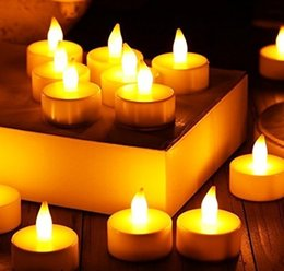 LED candles Flameless LED tea lights Realistic Battery-Powered Flameless candles - Beautiful and Elegant Unscented Birthday LED candles