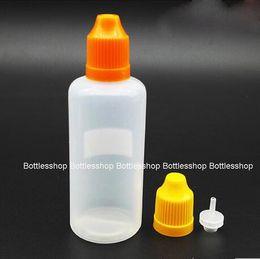 In Stock 60ml PE plastic e-liquid e-cig e-juice e cigarette dropper bottle Empty Plastic Bottles Wholesale 2OZ with child resistant cap