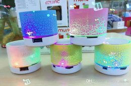 LED Bluetooth Speaker Wireless Portable Speaker A9 stone crack Subwoofer Stereo HiFi Player for IOS Android Phone