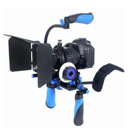 Plates-formes de caméra pour dslr à vendre-4 en 1 DSLR Rig Set Movie Kit montage sur l'épaule Top Handle avec Follow Focus et Matte Box pour tous les appareils DSLR