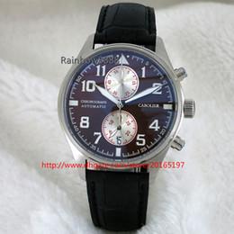 Fashion watches quartz chronograph movement mens clock luminous wristwatches leather strap dress W007