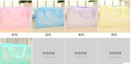 Makeup Bags Cosmetic Bags Transparent Waterproof PVC Bag Floral Print For Toilet Bathing Pouch Travel