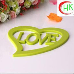 Wholesale silicone dining table placemats coasteroffee cups drinks kitchen accessories mat cup bar mug mats ultiple colors and shapes choose for you