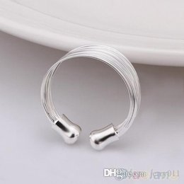 Fashion Multilayer Chain Women Ring Plated Wide Band Silver Ring 1SGY