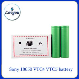 Wholesale Sony VTC4 VTC5 battery for e cigarette mod e cig V mAh mAh vs Trustfire best fire battery