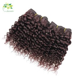 Good Quality Brazilian Hair Bundles 99j Weave Kinky Curly Hairstyles For Brazilian Weave Curly Red Weave Discount Human Hair Extensions