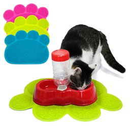 Wholesale 20 PVC Non slip Pet Dog Placemat Puppy Cat Dish Feeding Bowl Mat Dogs Water Feed Pad Placemat Pet Accessories