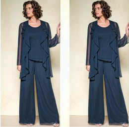 Chiffon Mother Of The Bride Pant Suits Mother Of The Bride Pant Suitsr Long Sleeve Custom Made Plus Size Mother Pant Suits