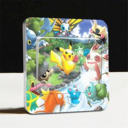 Wholesale DIY fashion creative switch stickers cartoon characters wall stickers christmas beautiful stickers gifts for friends B0458
