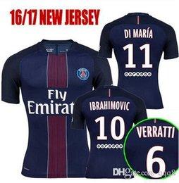 Wholesale Thailand Quality Paris Saint Germain PSG Soccer Uniform Football Jerseys IBRAHIMOVIC CAVANI DI MARIA T SILVA LAVEZZI