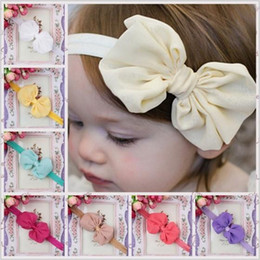 New Arrival Baby Girls 14 Colors Chiffon Bow Fashion Princess Headbands 2015 European Style Childrens Elegant Fabric Headband BY0000