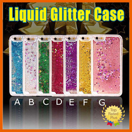 Wholesale Star Phone Batteries - iPhone 7 6s Plus Luxury Glitter Liquid Sand Star Phone Protective Case Cover for iPhone 5 SE 6 6s Plus Galaxy s7 s6