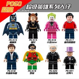 Wholesale 480pcs PG8009 Building Blocks Super Heroes Minifigures DC Comics Batman Classic TV Series Batmancave Dick Grayson Alfred Pen toys