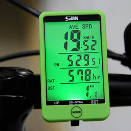 Wholesale 27 in LCD Bicicleta Bicycle Computer Wired MTB Road Bike Computer Speedometer Odometer Big Display Backlight Cycling Computer