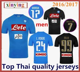 2016 2017 Serie A Naples New Napoli home soccer jerseys Napoli blue men 16 17 HAMSIK L.INSIGNE home away football Shirts