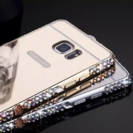 Wholesale Samsung Galaxy Note Crown Aluminum Bling Mirror Diamond Metal Case Cover For Samsung Galaxy Note Note iPhone Plus