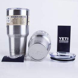Wholesale Factory Yeti Cooler Cups Pink YETI Rambler Tumbler Bilayer Vacuum Insulated Cup Vehicle Beer Mugs High Quality Best Quality DHL Free Shippin