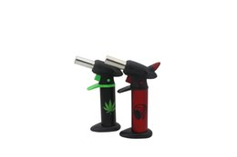 Wholesale Flamethrower butane Windproof lighters Barbecue gas jet lighters can adjust the flame Recycling Lighting a cigarette or cigar