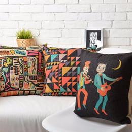Wholesale Guitar Moon Abstract Art Rock Music Books Pillow Massager Art Painting Neck Euro Case Pillows Home Decor Gift