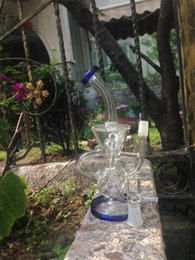 Double Recycler 14.4mm Joint Bongs Scientific Phonix Klein Vapor Recycler Oil Rigs Glass Bongs Pulse Bio Dab Glass Bongs
