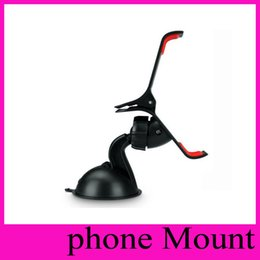 360 degree Car Windshield Mount cell mobile phone Mounts & Holders Bracket stands for iPhone 6 5 4S for samsung Smartphone