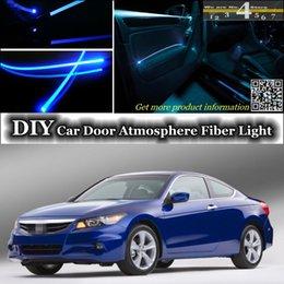 Wholesale DIY interior Ambient Light Tuning Atmosphere Fiber Optic Band Lights For Honda For Accord Door Panel illumination Refit