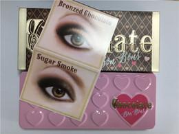 Wholesale Hot Sale New Makeup Chocolate Bar semi sweet Bon Bons Eye Shadow Palette Color Eye Shadow plates High quality