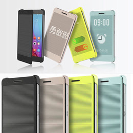 Wholesale New Windows Smart Flip Case Origina Flip Cover Frame amp Luxury For Huawei Honor inch Rainbow