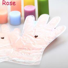 Wholesale Paraffin Wax Rose Flavor Green Tea Hand Mask Lavender Moisture Hand Skin Care Gloves Reusable FDA Approved Home Milk SPA Glove