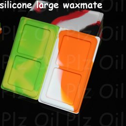 Wholesale 10pcs Large Waxmate Containers Big Silicone Rubber Silicon Storage Square Shape Wax Jars Dab Concentrate Tool Dabber Oil Holder for Dry Herb