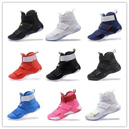 Wholesale 22 colors New Jame Zoom SOLDIER MEN Basketball shoes LB s LB10 sport sneakers retro high trainers size