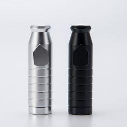 Acabado mate en Línea-2,3 pulgadas rapé bala con acabado mate contiene 3 g Snuff Bullet Pipe Aluminio Metal Snuff Snorter pipas portátil colorido regalo 142
