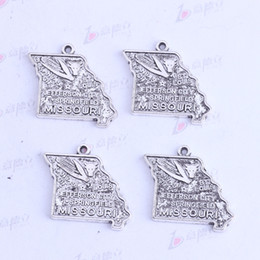 23.4*26mm antique silver bronze MISSOURI JEFFERSON CITY corn irregular pendants Charms DIY irregular jewelry fit necklaces 3413
