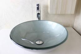 Wholesale Pastoral style vanity Modern Bathroom Glass Basin Hot Sale Glass Basin glass sink bowl Glass Basin Vanity N