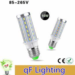 Wholesale High Power E27 E14 LED Corn lamp No Flicker V V Real W Indoor Lighting Bulb SMD LEDs Super Bright LEDs Light