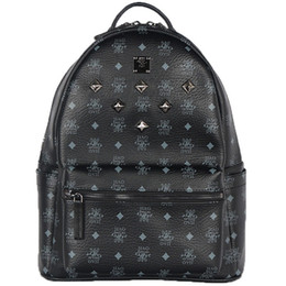 Japanese and Korean version star necessary joker sequins package metal rivet punk wind backpack large size 46*37*17cm