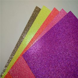 Wholesale 12x12 quot colorful glitter paper weight g craft paper silver gold black purple blue pink