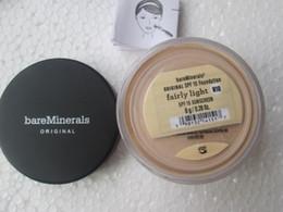 Wholesale makeup Bare Minerals original Loose Powder Foundation g SPF15 NEW Click Lock fairly light medium beige