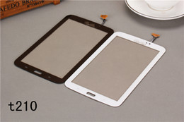 For Samsung Galaxy Tab 3 7.0 T210 T211 T2105 P3210 Touch Screen Digitizer Glass Panel White And Black Yellow Replacement Parts DHL
