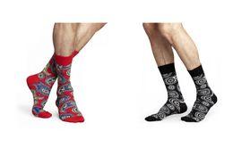 Wholesale 2016 mens womens unisex brand new happy socks Totem national wind korea style colorful skateboard long tube knee high crew socks for couple