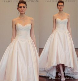 Wholesale 2017 Runway High Low Wedding Dresses Isabella Armstrong A Line Sweetheart Plus Size Long Length Country Wedding Bridal Gown Vestido De Novia
