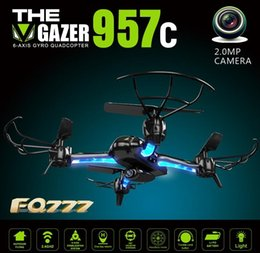 Wholesale FPV Drone Quadcopter FQ777 C axis Gyro G FPV With MP Outdoor Wifi Camera RTF RC Drones GHz BW02