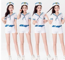 Wholesale 2016 fashion Tara Navy stewardess uniform stage wear