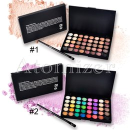 40 Colors Matte Pigment Eyeshadow Palette Cosmetic Makeup Set Eye Shadow Smoky Nude Shimmer Matte Eyeshadow Palette with brush 2801045